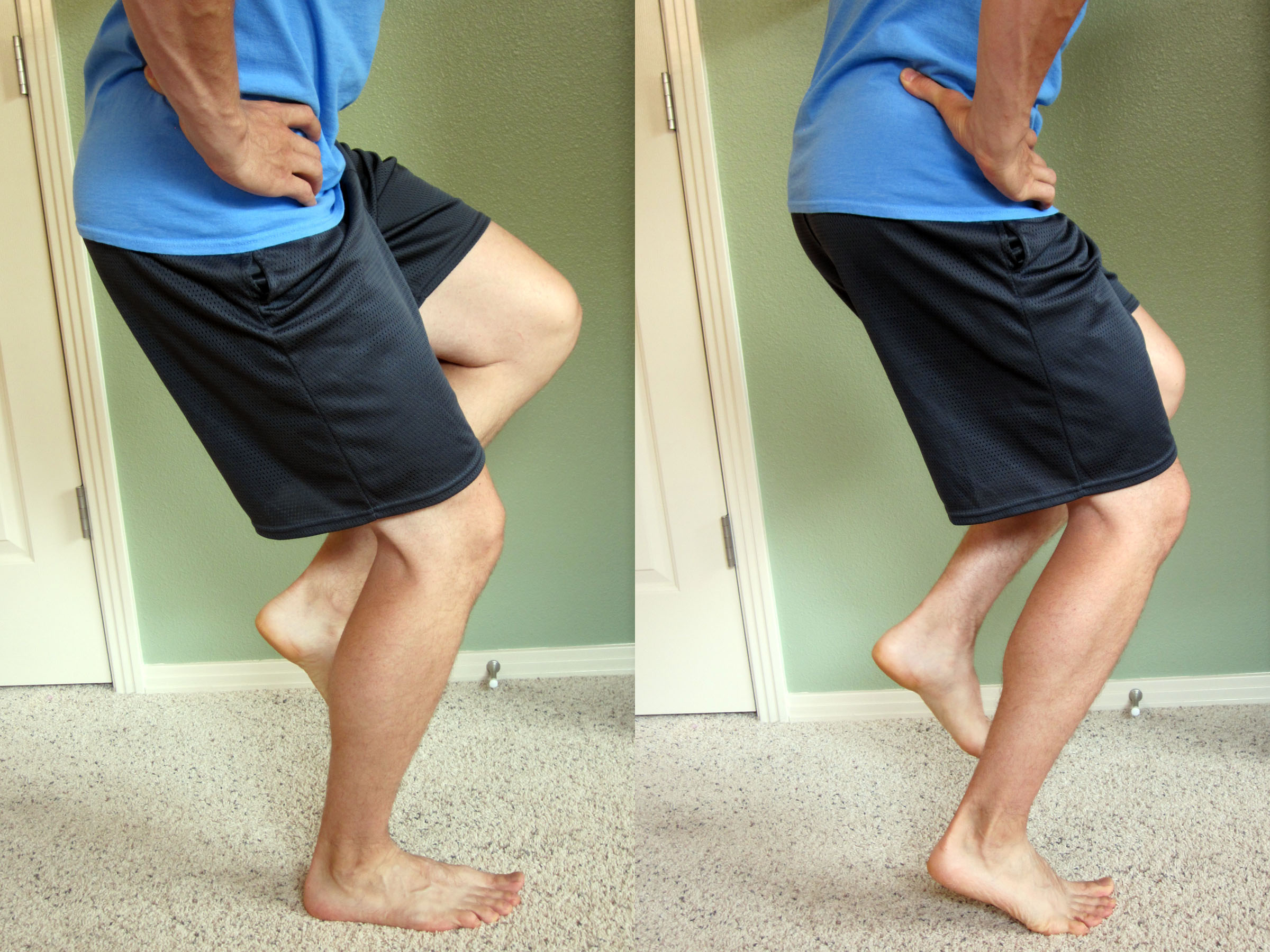 Ankle sprain physical therapy - Onelegsquat_collage Clock Exercise