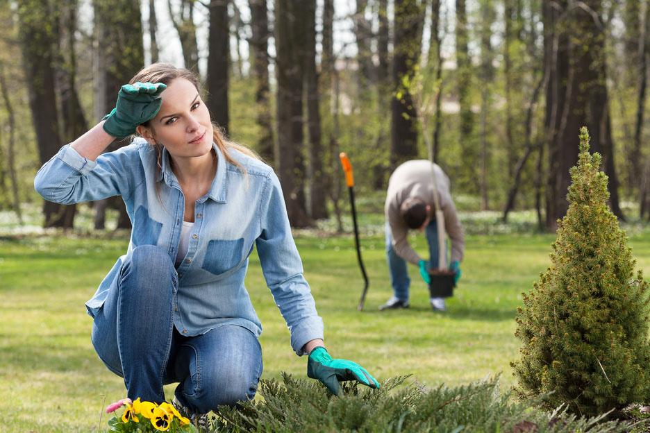 Exhausting work in garden